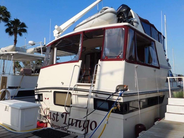 Californian-45 Aft Cabin Motor Yacht 1989-Last Tango Merritt Island-Florida-United States-Stern, Aft/Sun Deck Entrance-1367183   Thumbnail
