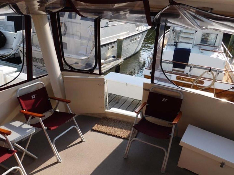 Californian-45 Aft Cabin Motor Yacht 1989-Last Tango Merritt Island-Florida-United States-Aft/Sun Deck Entrance-1367181   Thumbnail