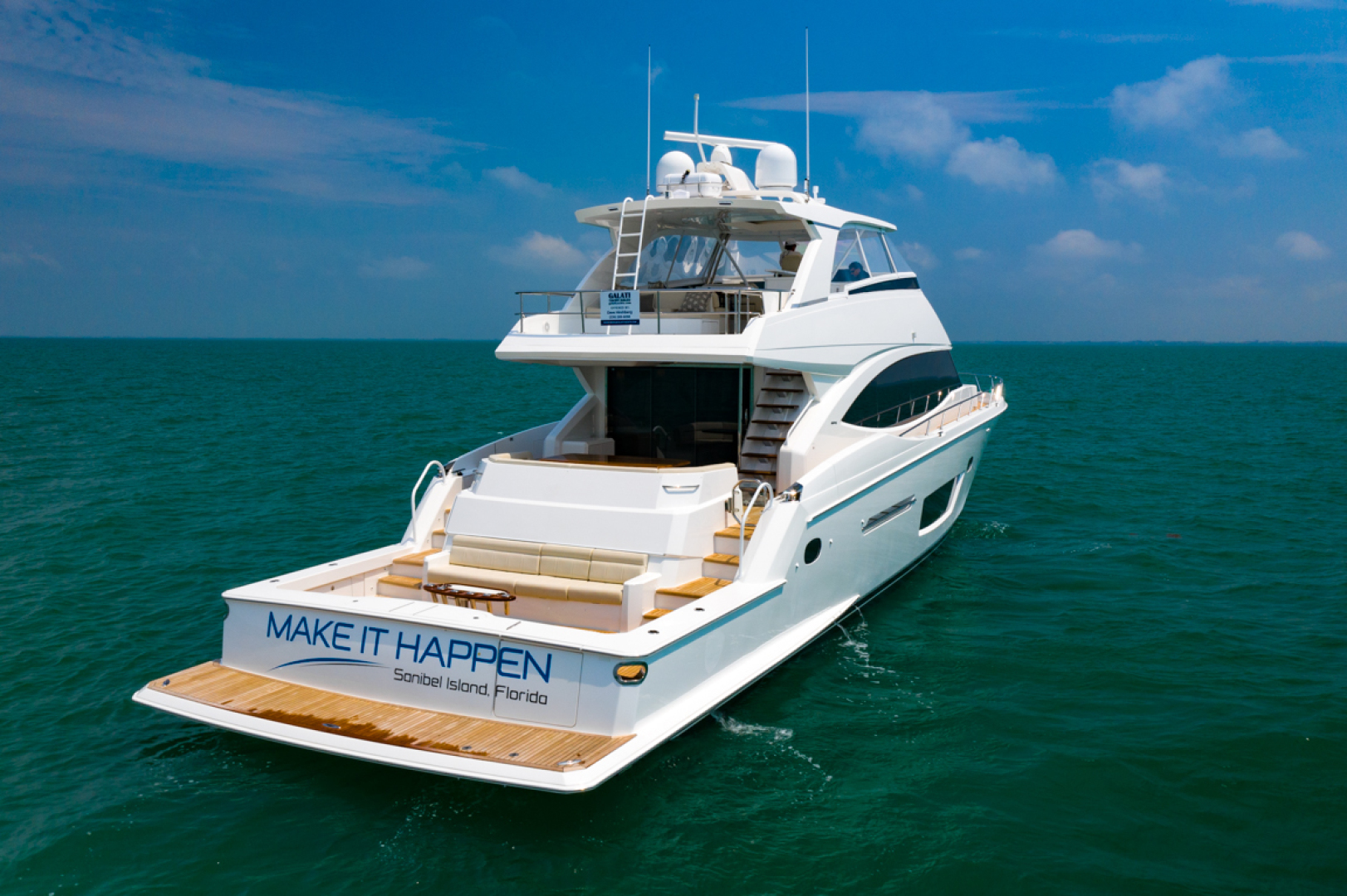 Viking-82 Cockpit MY 2019-Make It Happen Sanibel -Florida-United States-Viking 82CPMY Make It Happen Stern Aerial-1378584 | Thumbnail