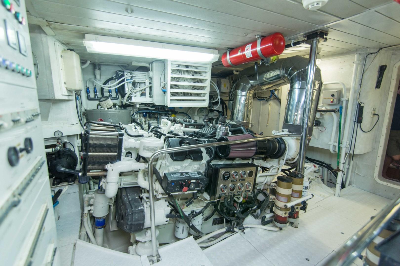 Azimut-Motor Yacht 2001-Enchanted Lady North Palm Beach-Florida-United States-Engine Room-1372247 | Thumbnail