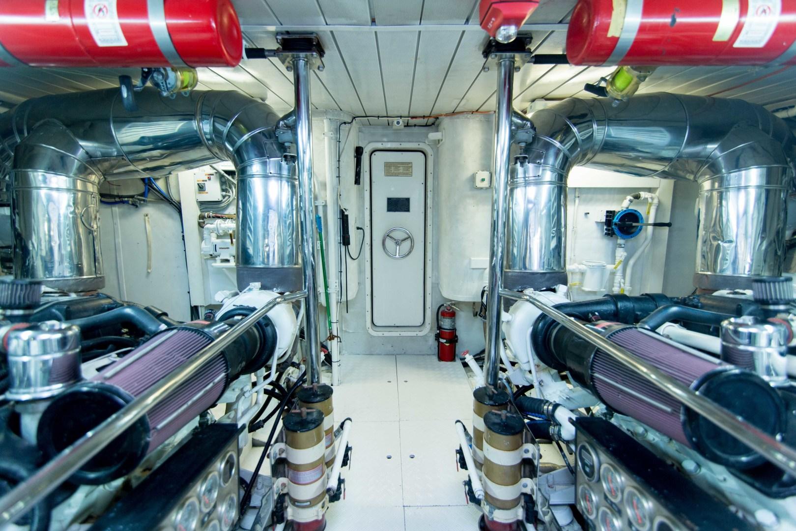Azimut-Motor Yacht 2001-Enchanted Lady North Palm Beach-Florida-United States-Engine Room-1372251 | Thumbnail