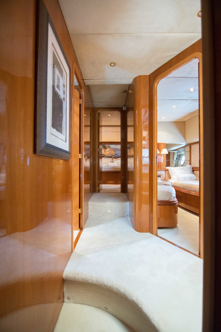 Azimut-Motor Yacht 2001-Enchanted Lady North Palm Beach-Florida-United States-Master Stateroom Companionway-1372152 | Thumbnail