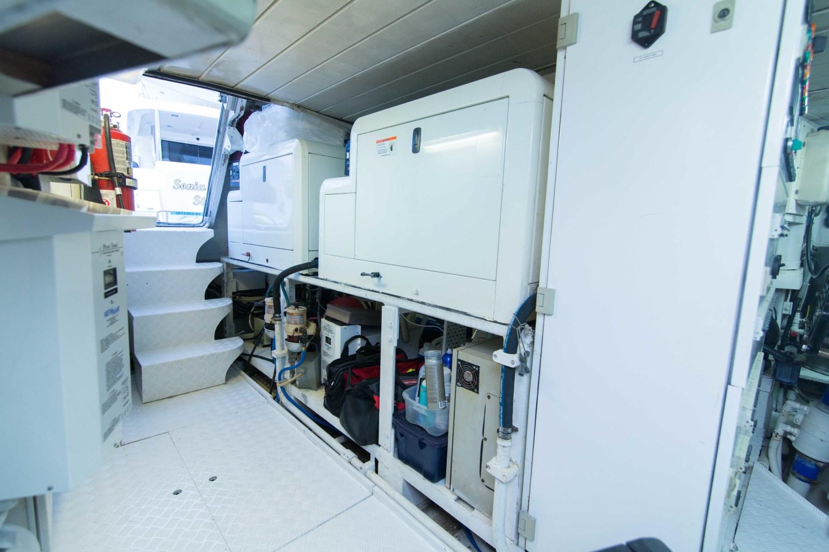 Azimut-Motor Yacht 2001-Enchanted Lady North Palm Beach-Florida-United States-Engine Room-1372255 | Thumbnail