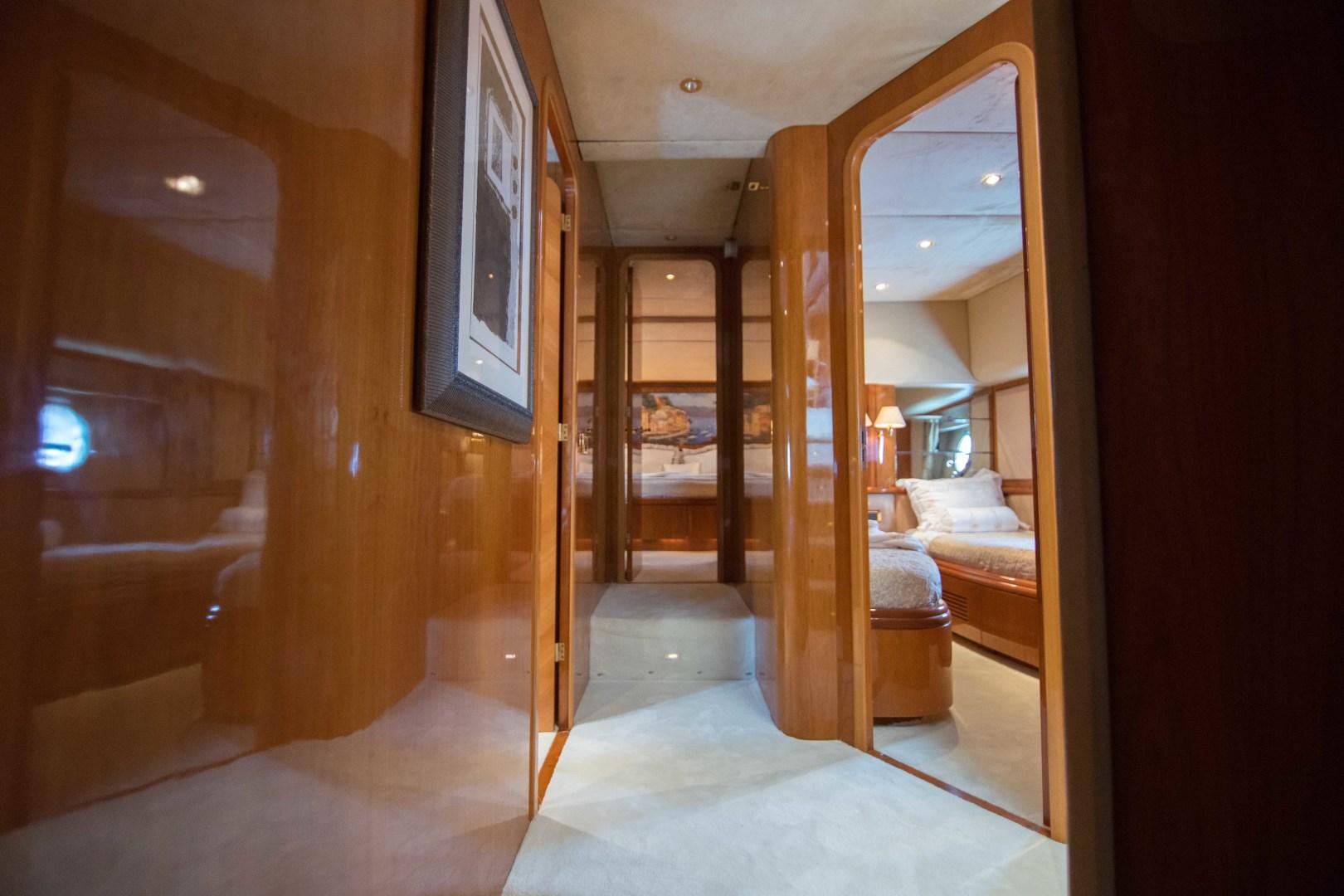 Azimut-Motor Yacht 2001-Enchanted Lady North Palm Beach-Florida-United States-Master Stateroom Companionway-1372153 | Thumbnail