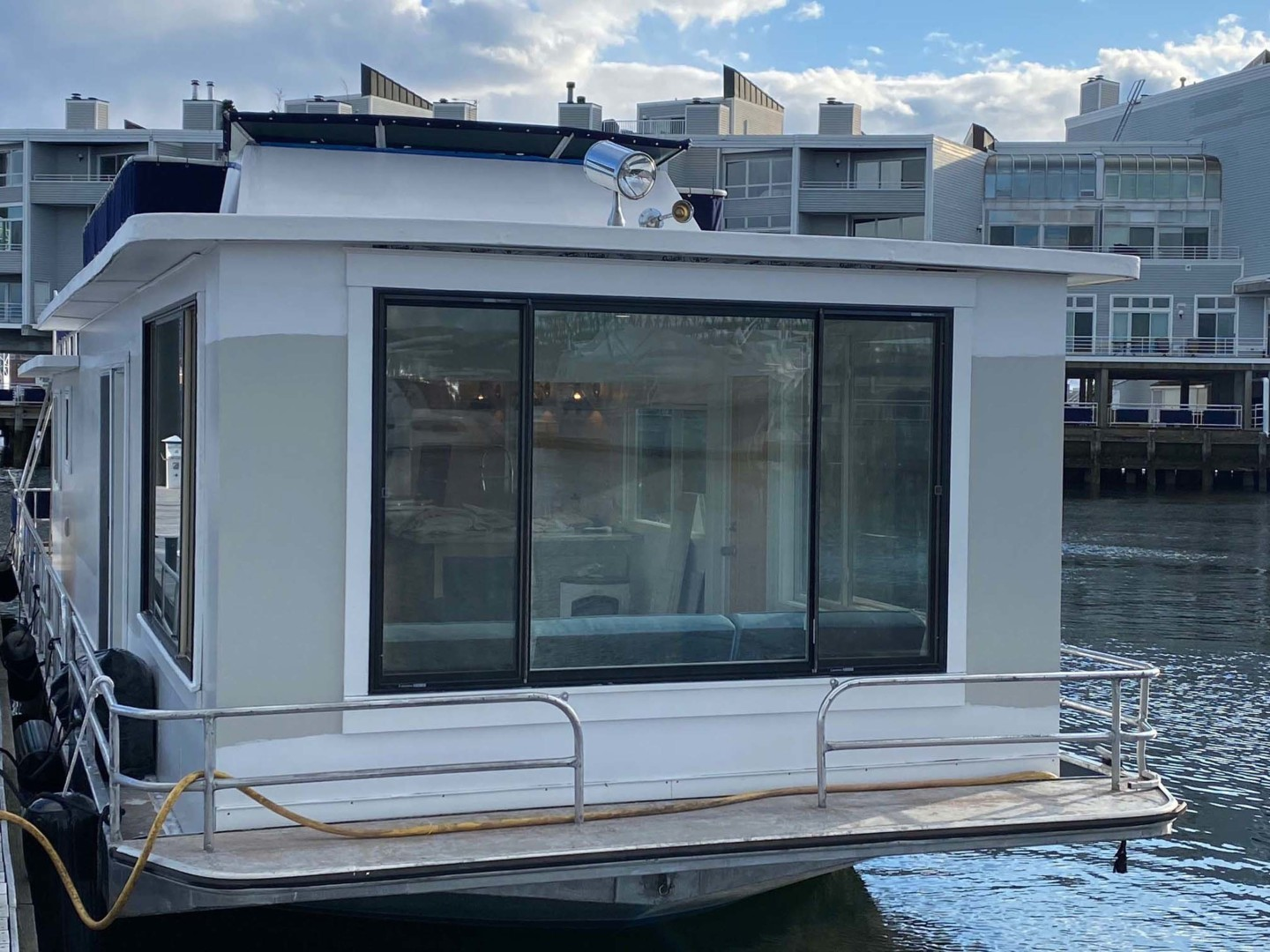Sumerset-Houseboat 1981 -Charlestown-Massachusetts-United States-View Of Guest And Or Family Room Picture Window-1377441 | Thumbnail