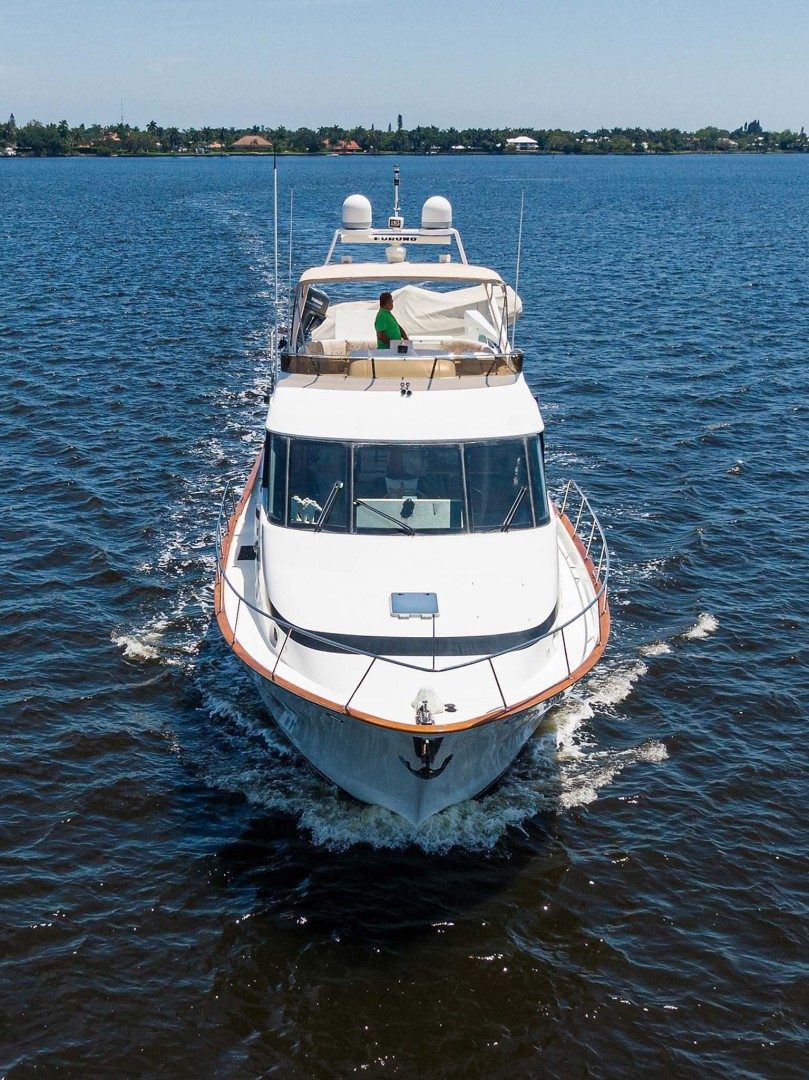 Queenship-Pilothouse Motor Yacht 1996-UNBRIDLED Stuart-Florida-United States-Bow Running View-1383345 | Thumbnail