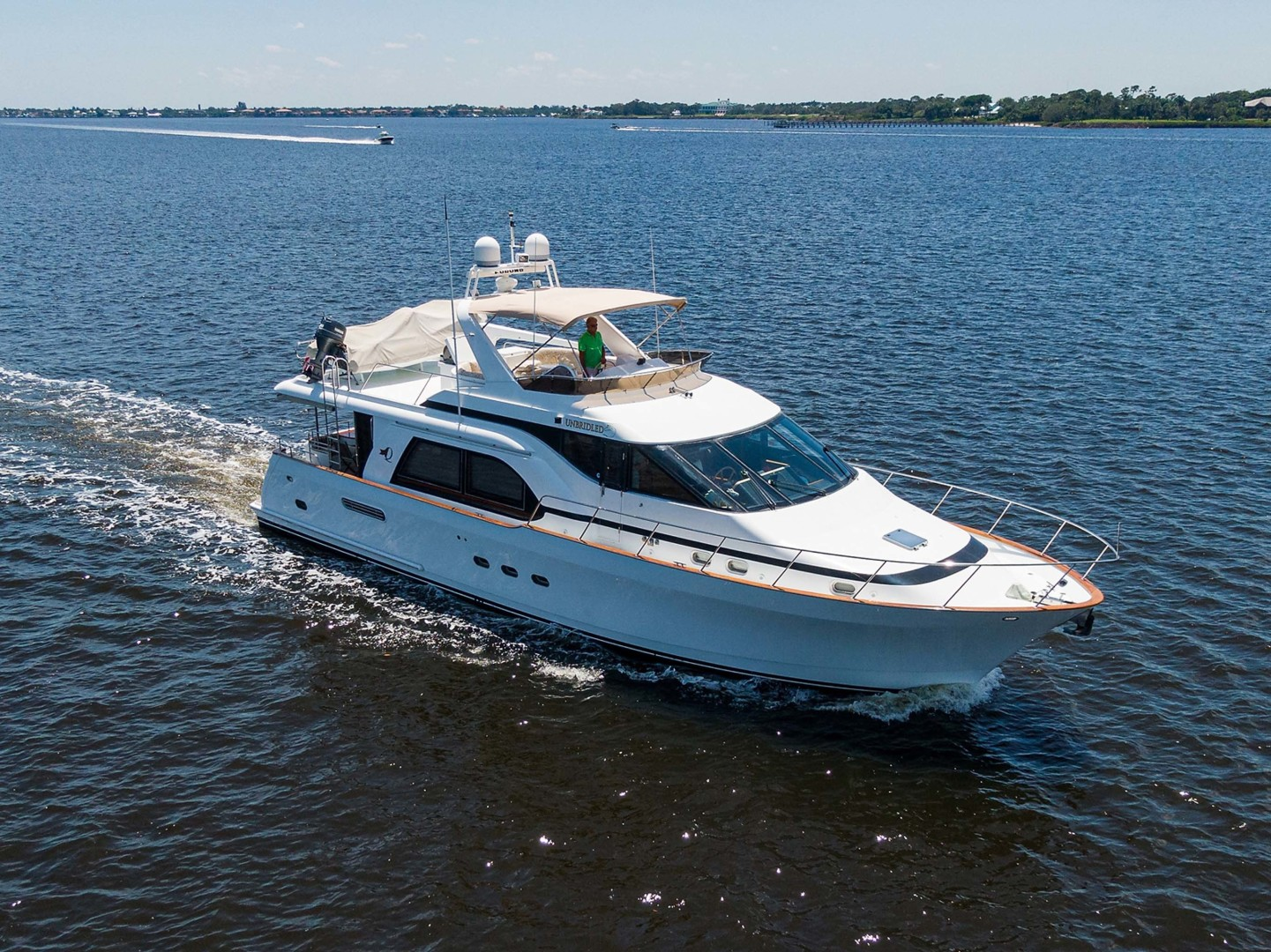 Queenship-Pilothouse Motor Yacht 1996-UNBRIDLED Stuart-Florida-United States-Starboard Running View-1383346 | Thumbnail