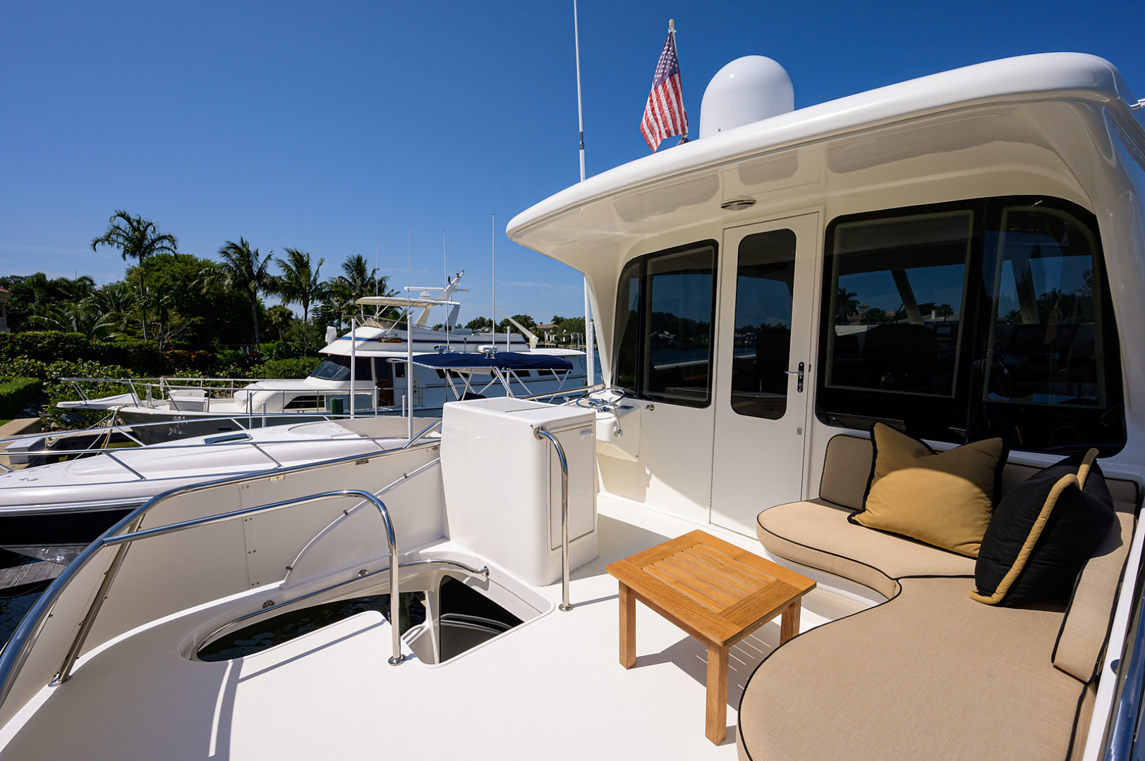 Ocean Yachts-Odyssey 2005-MISS JAN Palm Beach Gardens-Florida-United States-Enclosed Flybridge Aft Deck-1387030 | Thumbnail