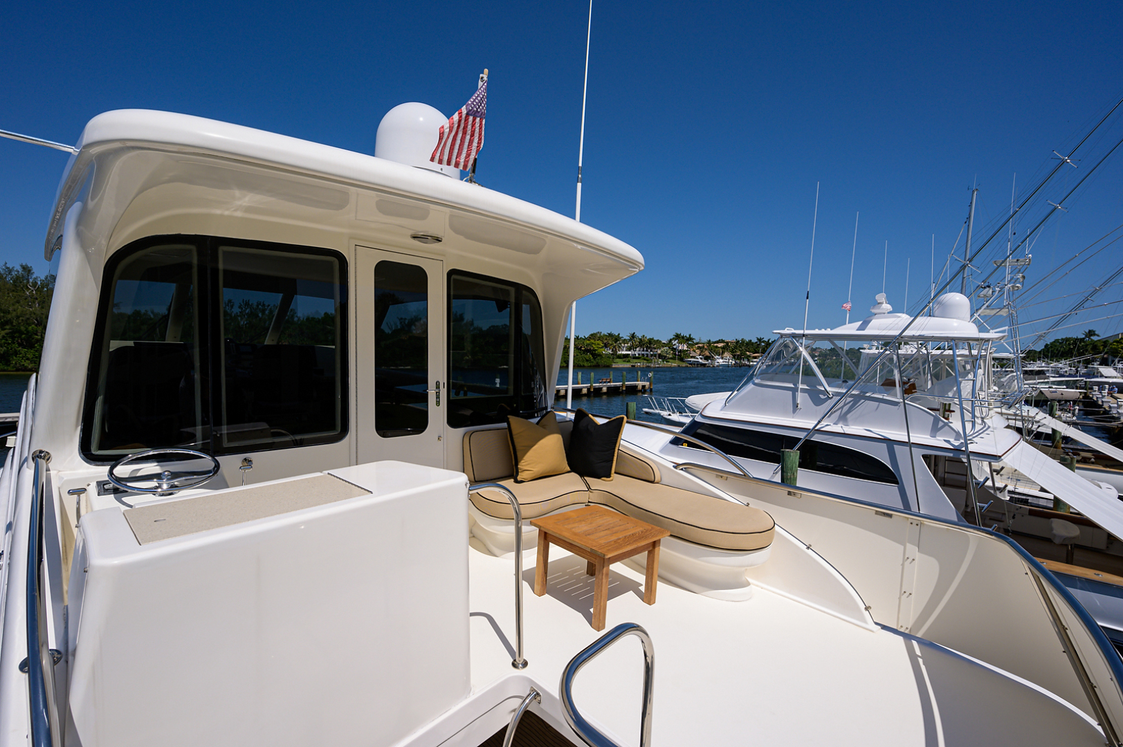 Ocean Yachts-Odyssey 2005-MISS JAN Palm Beach Gardens-Florida-United States-Enclosed Flybridge Aft Deck-1387031 | Thumbnail