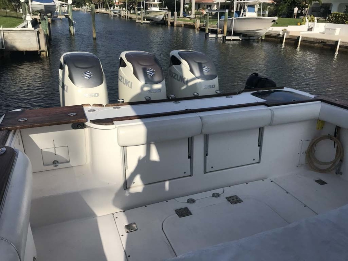 Everglades-350 LX 2010-Off The Charts Hobe Sound-Florida-United States-Aft Seats Up-1393638 | Thumbnail