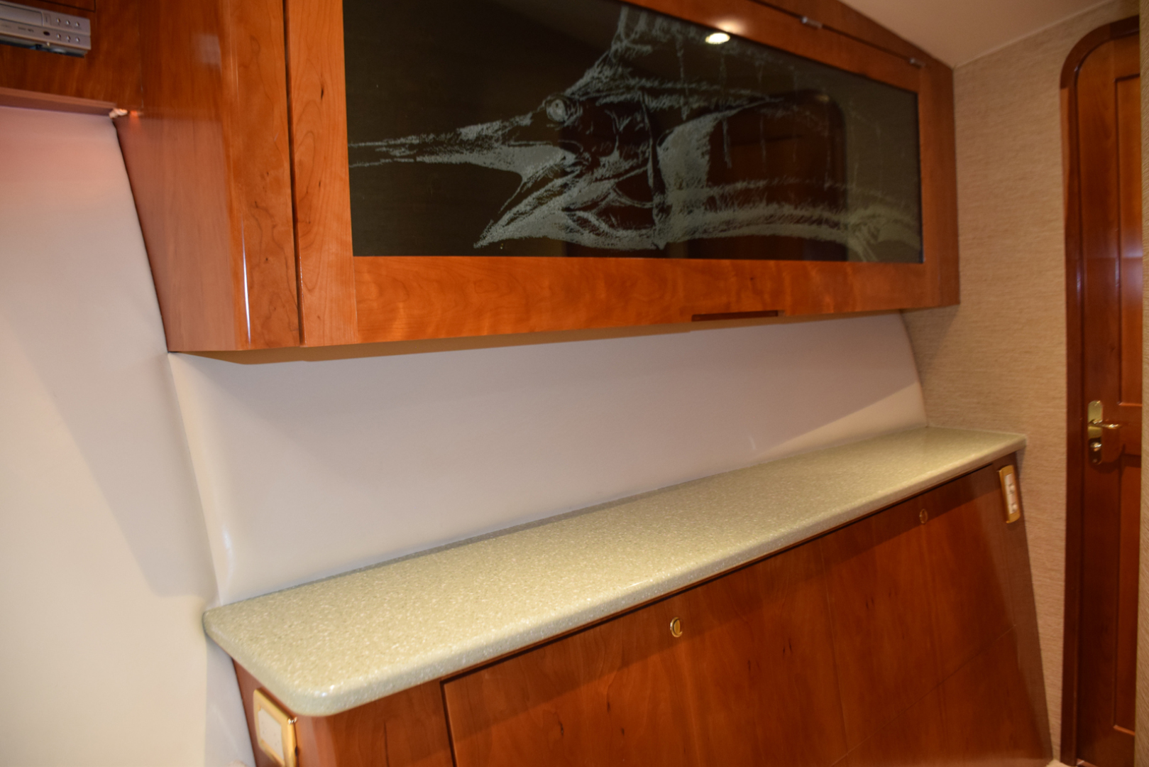 Sculley-Custom 60  Repowered & Gyro stabilized 2004-STEALIN TIME Singer Island-Florida-United States-Fwd stateroom tackle storage cabinet-1490536 | Thumbnail