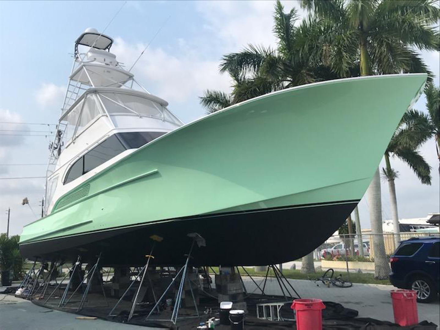 Sculley-Custom 60  Repowered & Gyro stabilized 2004-STEALIN TIME Singer Island-Florida-United States-Hauled out-1490617 | Thumbnail