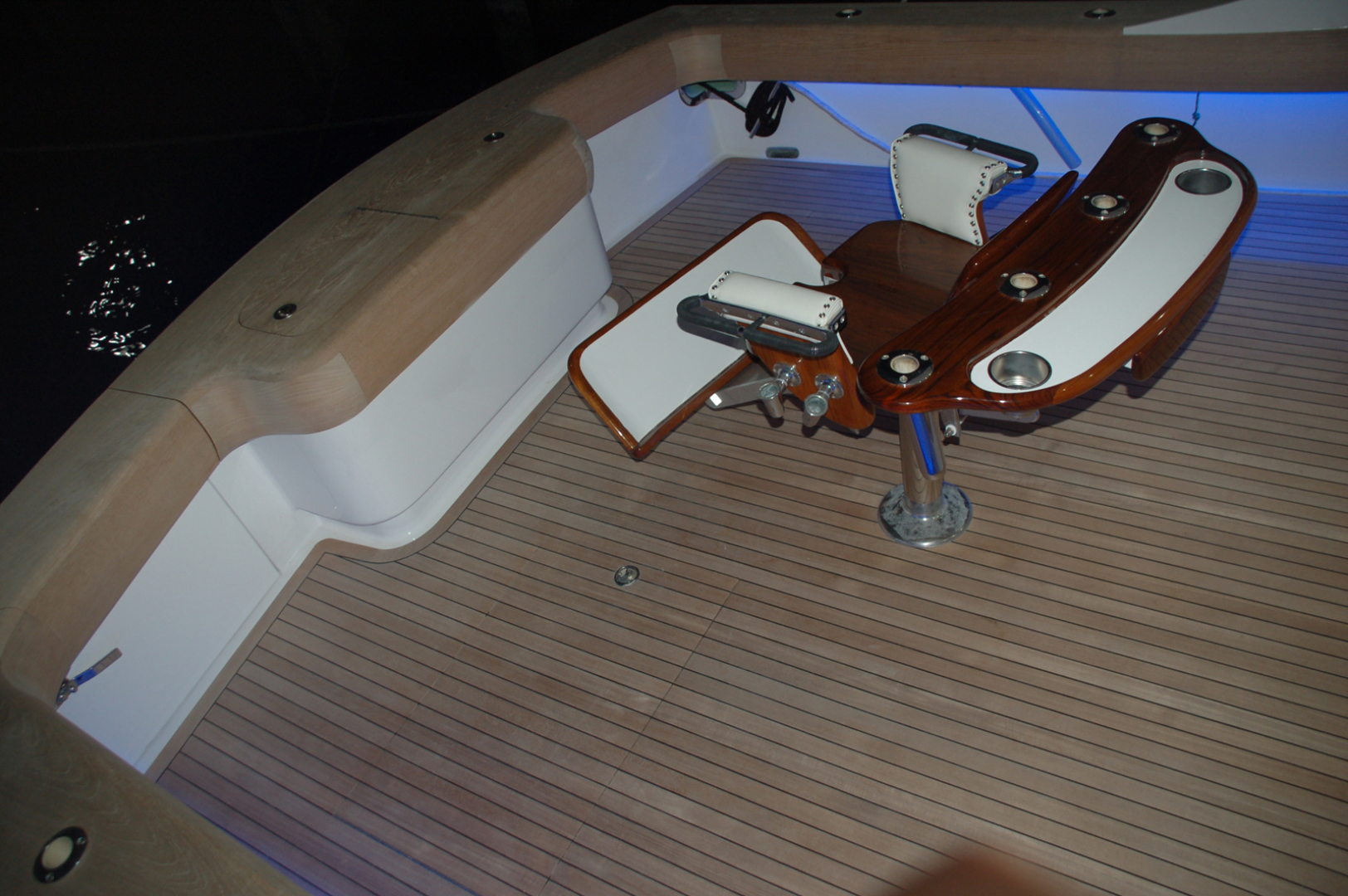 Sculley-Custom 60  Repowered & Gyro stabilized 2004-STEALIN TIME Singer Island-Florida-United States-Cockpit with lighting-1490553 | Thumbnail