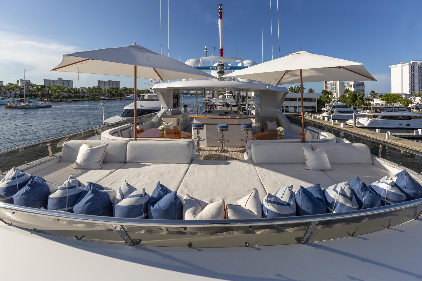 Richmond Yachts-Tri-Deck Motor Yacht 2008-FAR FROM IT St Thomas -Virgin Islands-Virgin Islands (US)-Sun Deck Lounging -1394838 | Thumbnail
