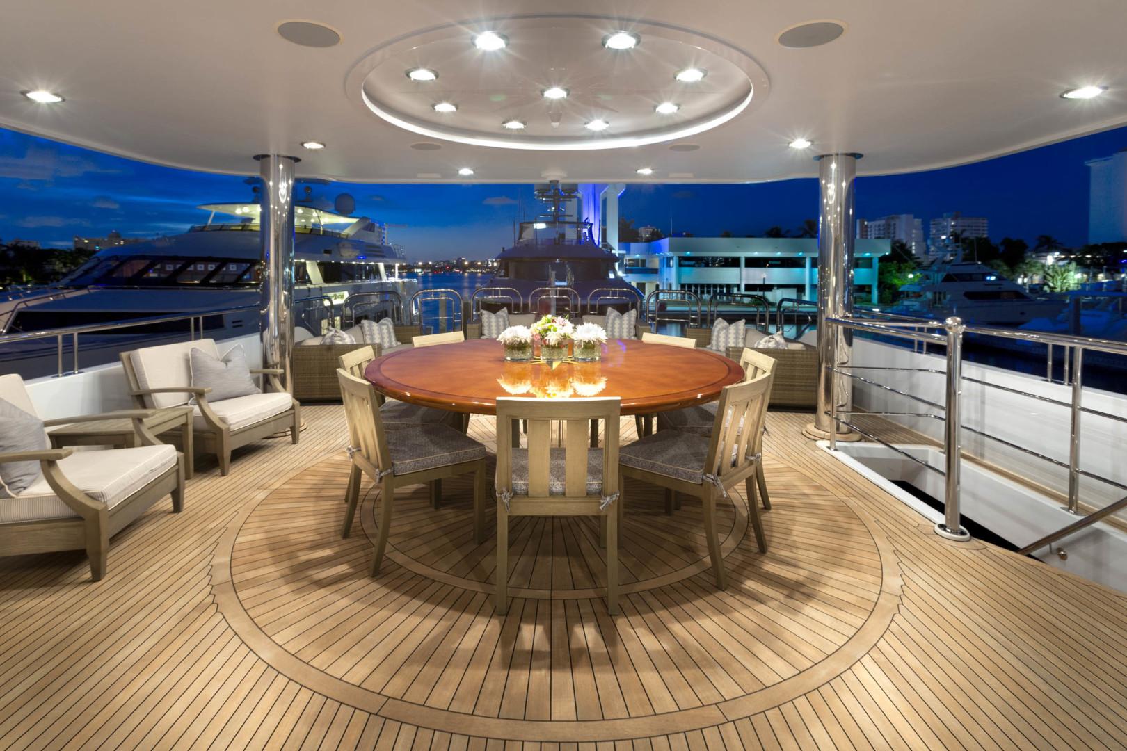 Richmond Yachts-Tri-Deck Motor Yacht 2008-FAR FROM IT St Thomas -Virgin Islands-Virgin Islands (US)-Bridge Deck Aft Dining-1394808 | Thumbnail