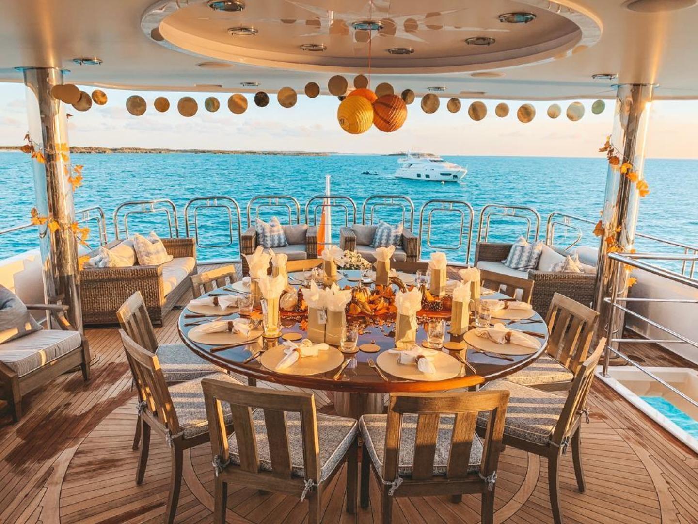 Richmond Yachts-Tri-Deck Motor Yacht 2008-FAR FROM IT St Thomas -Virgin Islands-Virgin Islands (US)-Dining Al Fresco-1394786 | Thumbnail