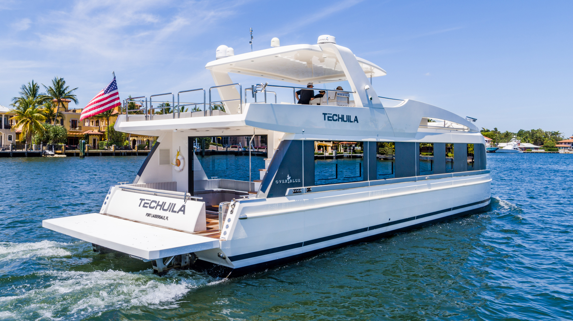 Overblue-58 Power Catamaran 2017-Techuila Ft. Lauderdale-Florida-United States-2017 Overblue 58 Powercat Starboard Aft View-1401108   Thumbnail