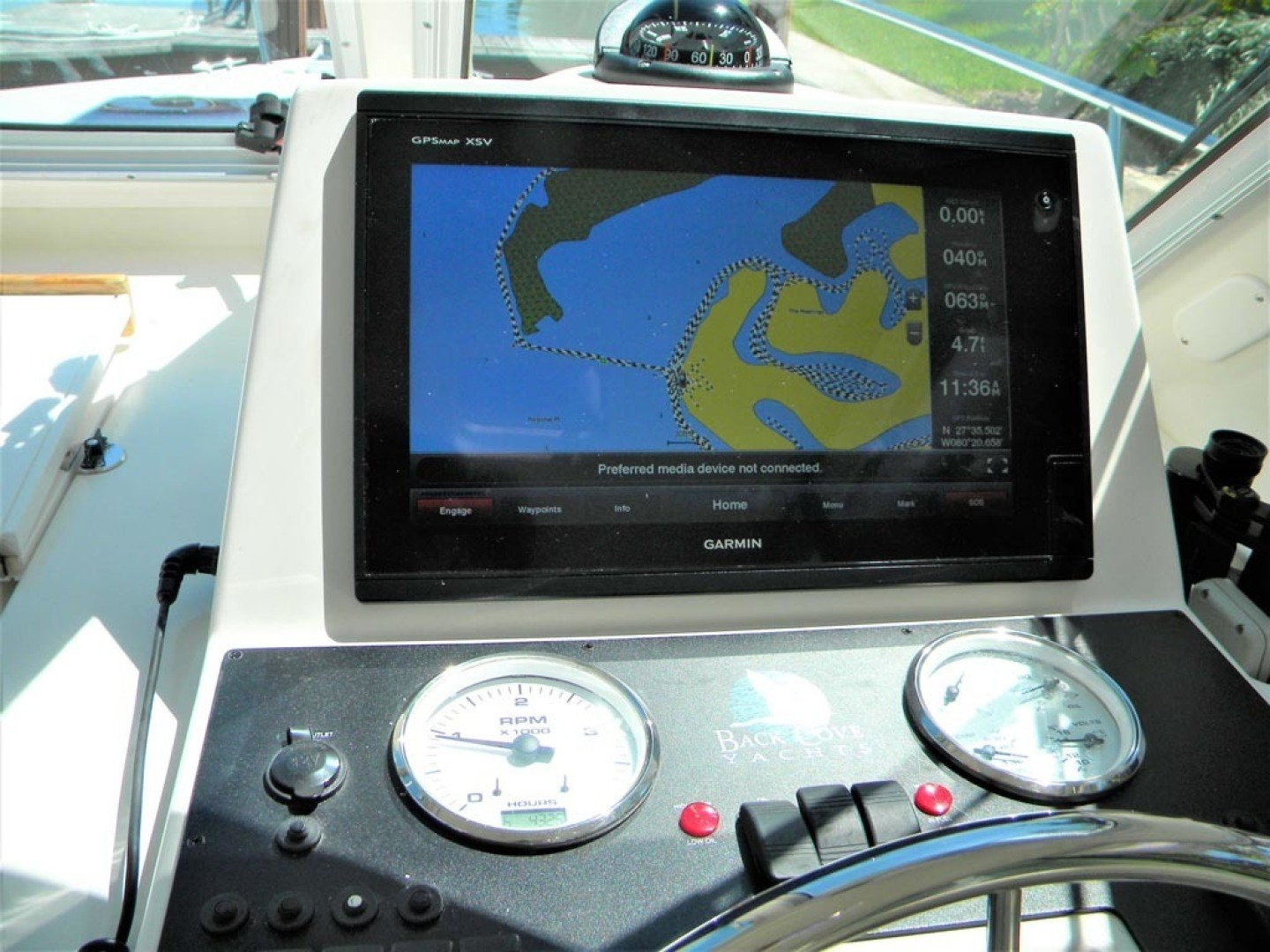 Back Cove-29 2009-Be Well II Vero Beach-Florida-United States-Garmin Multifunction Display-1399696 | Thumbnail