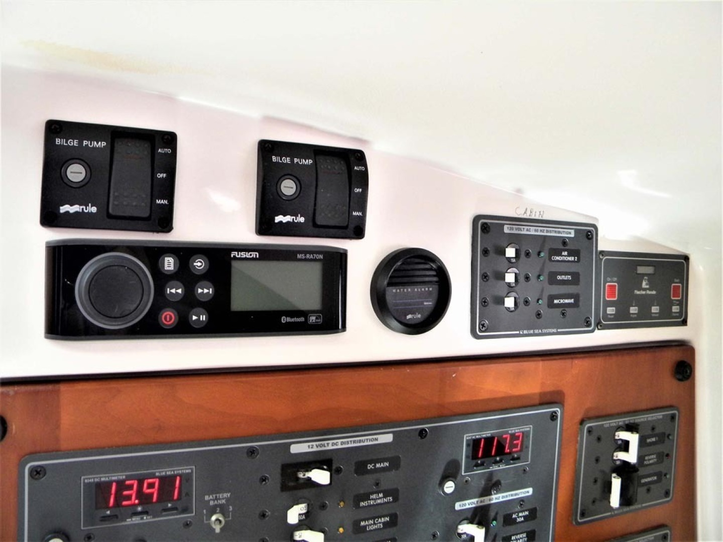 Back Cove-29 2009-Be Well II Vero Beach-Florida-United States-Cabin Aft Bulkhead   Electrical Panels-1399689 | Thumbnail