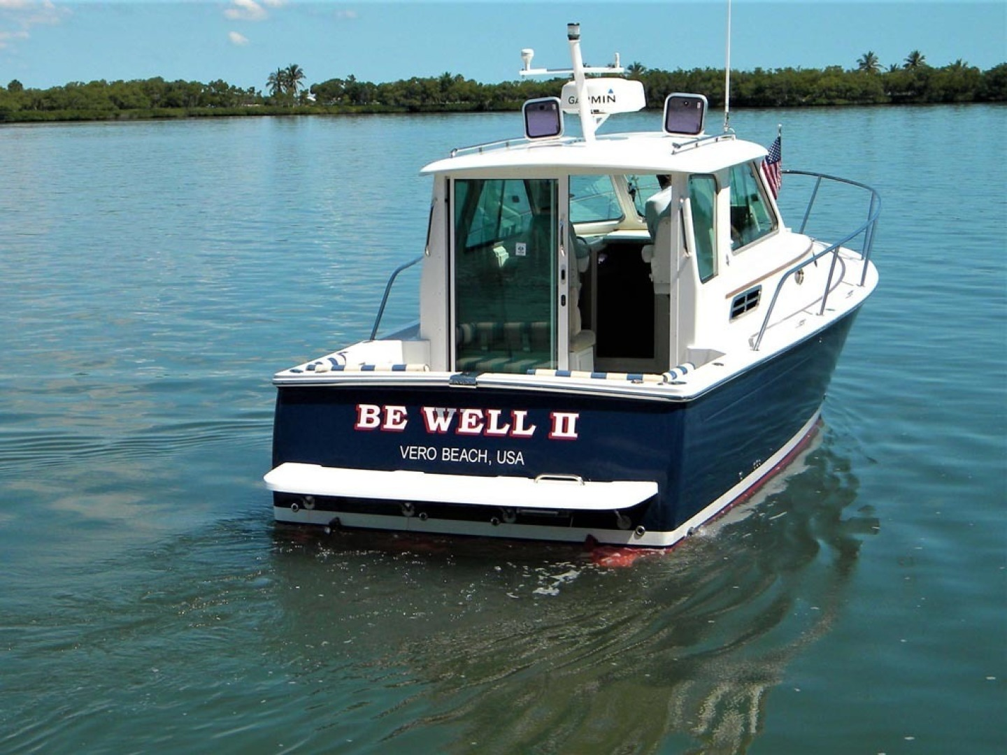 Back Cove-29 2009-Be Well II Vero Beach-Florida-United States-Stern View   Pilothouse Aft Enclosure-1399720 | Thumbnail