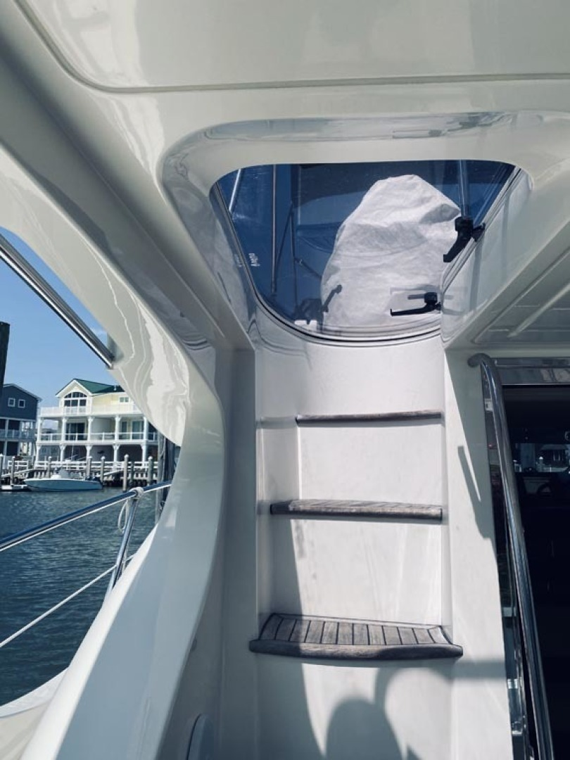 Azimut-43 Flybridge 2007-Wired Up Cape May-New Jersey-United States-Cockpit to Flybridge Stairs-1402877 | Thumbnail