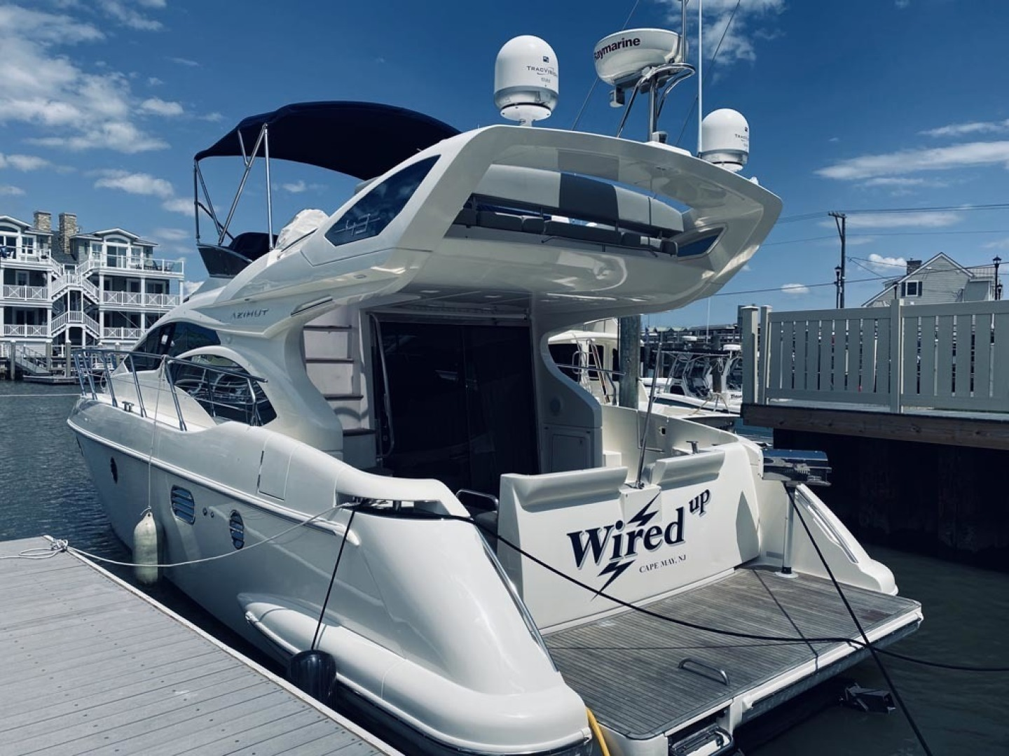 Azimut-43 Flybridge 2007-Wired Up Cape May-New Jersey-United States-Aft Port Qtr View-1402865 | Thumbnail