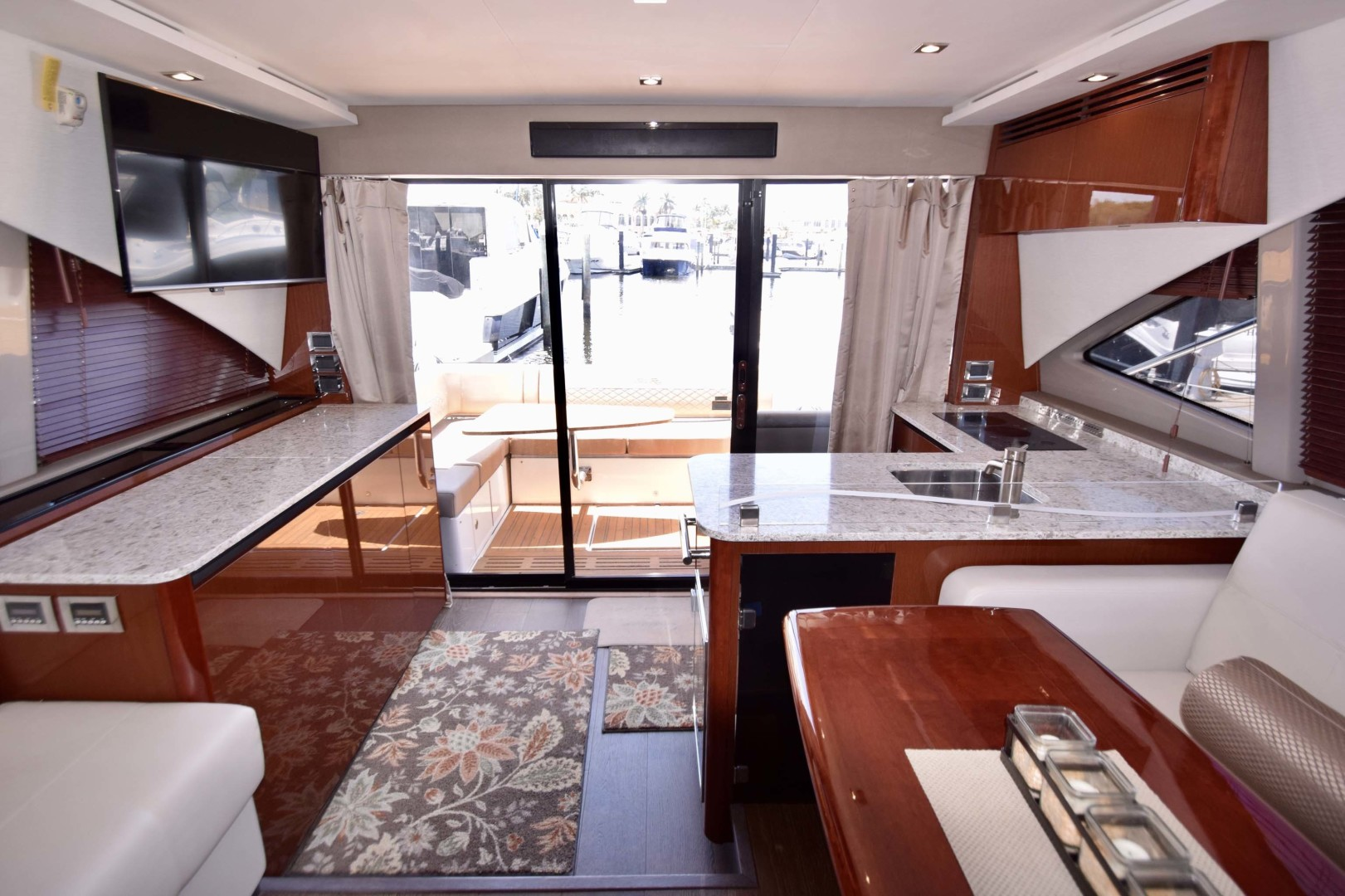 Sea Ray-460 Sundancer 2017-Susanne Marie 4 Fort Myers-Florida-United States-View To Sliding Glass Doors From Mid Ship Salon-1403741 | Thumbnail