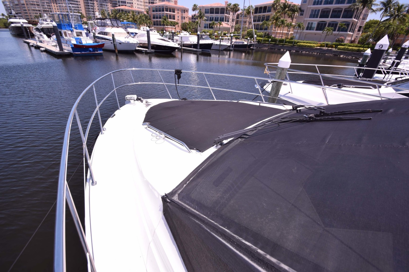 Sea Ray-460 Sundancer 2017-Susanne Marie 4 Fort Myers-Florida-United States-Bow With Windshield Covers And Bunny Pads And Covers-1403757 | Thumbnail