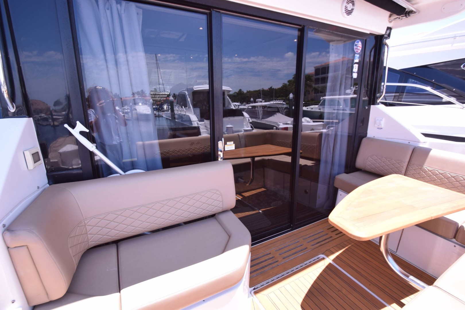 Sea Ray-460 Sundancer 2017-Susanne Marie 4 Fort Myers-Florida-United States-View Towards Sliding Glass Doors Aft Deck-1403759 | Thumbnail