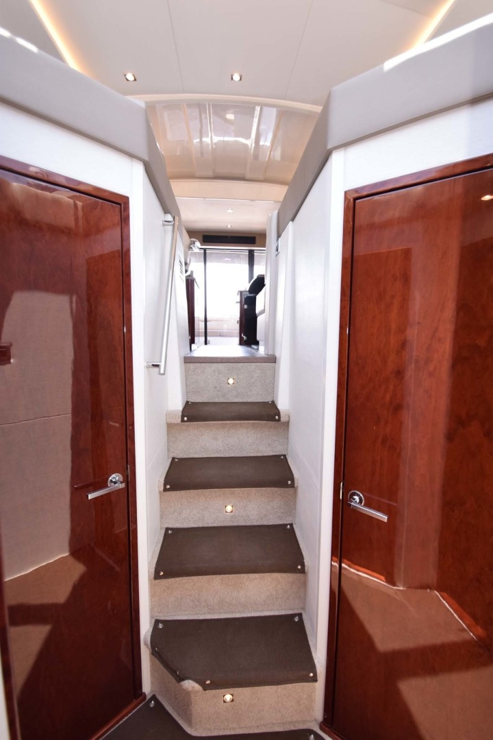 Sea Ray-460 Sundancer 2017-Susanne Marie 4 Fort Myers-Florida-United States-Stairs To Upper Salon, Helm And Galley-1403749 | Thumbnail