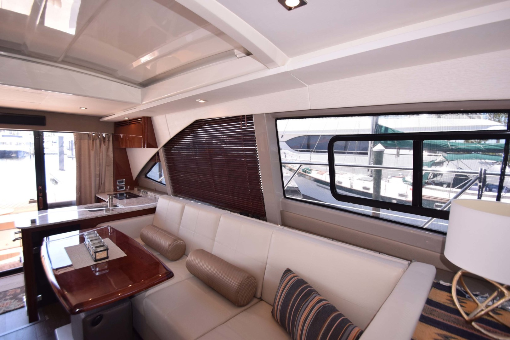 Sea Ray-460 Sundancer 2017-Susanne Marie 4 Fort Myers-Florida-United States-Salon Sofa Seating To Port-1403742 | Thumbnail