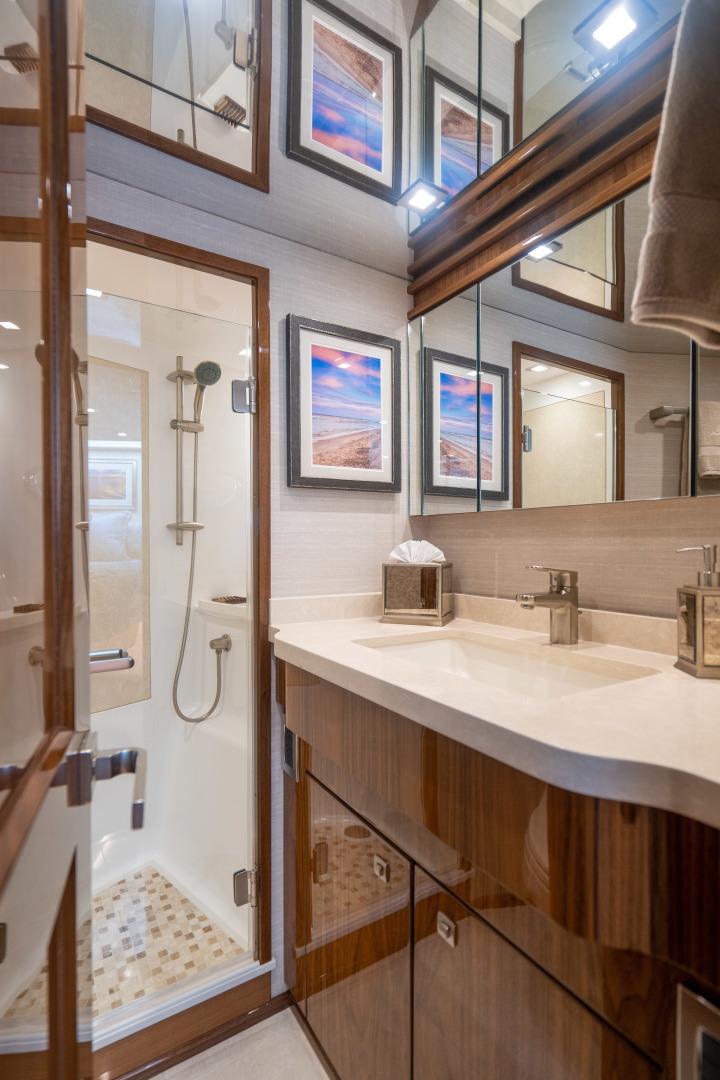 Viking-Motor Yacht 2018-LULU North Palm Beach-Florida-United States-VIP Stateroom, Forward Head-1405830 | Thumbnail