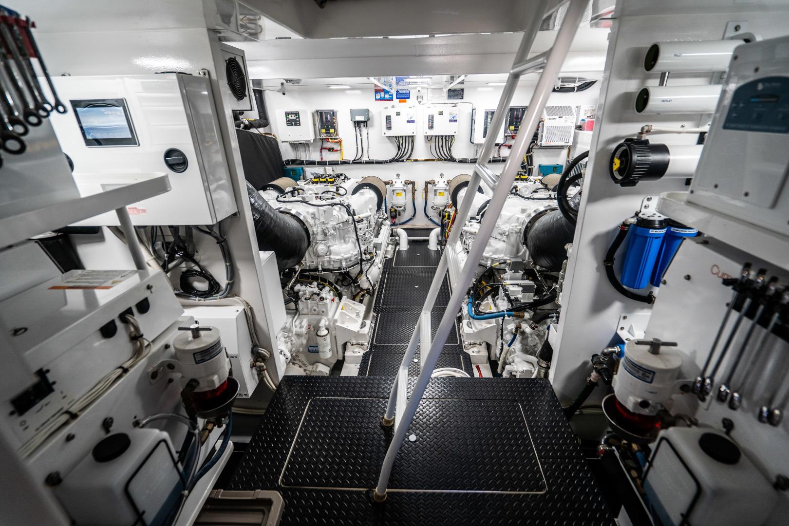 Viking-Motor Yacht 2018-LULU North Palm Beach-Florida-United States-Engine Room-1405938 | Thumbnail