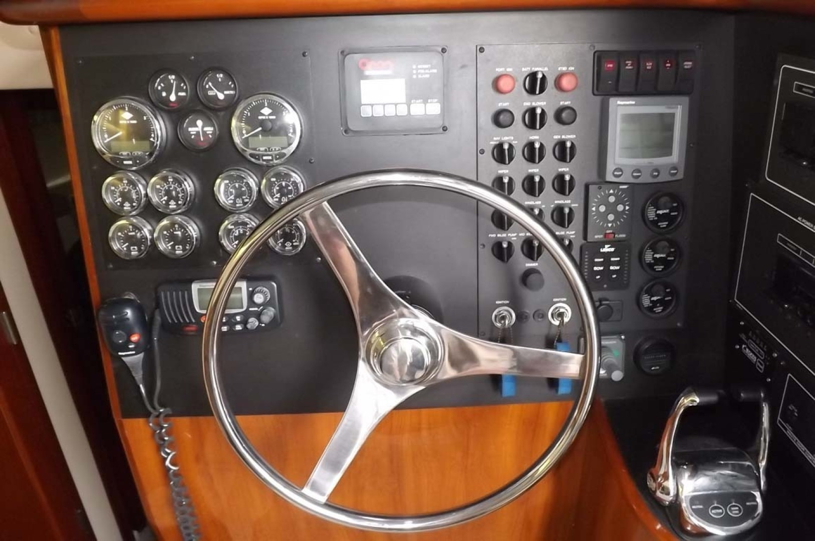 Bluewater Yachts-5200 2006 -Mount Pleasant-South Carolina-United States-Lower Helm Gauges, Switches-1412927 | Thumbnail