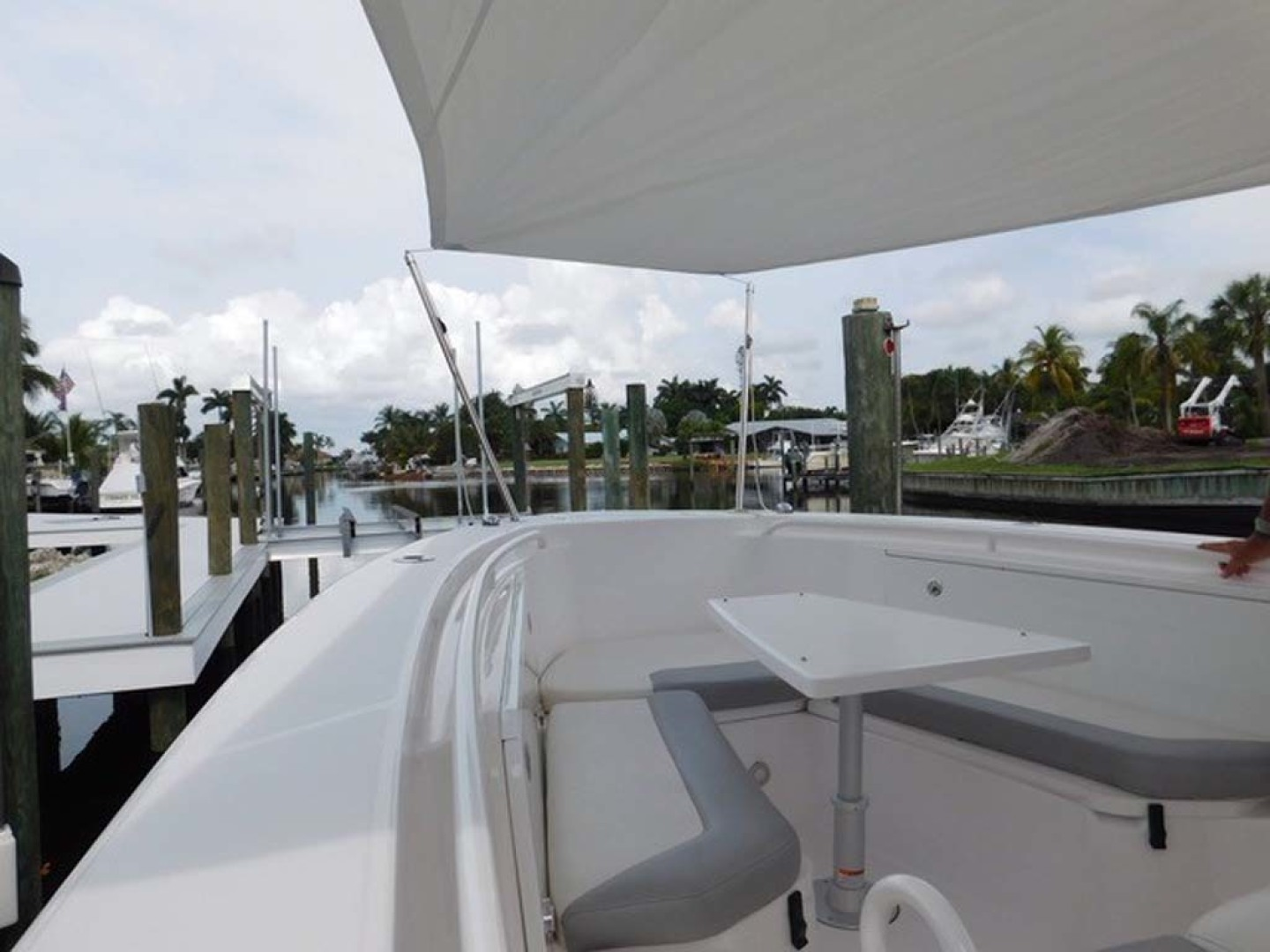 Everglades-325 CC 2012-Island Time Stuart-Florida-United States-Forward Sunshade Up-1414750 | Thumbnail