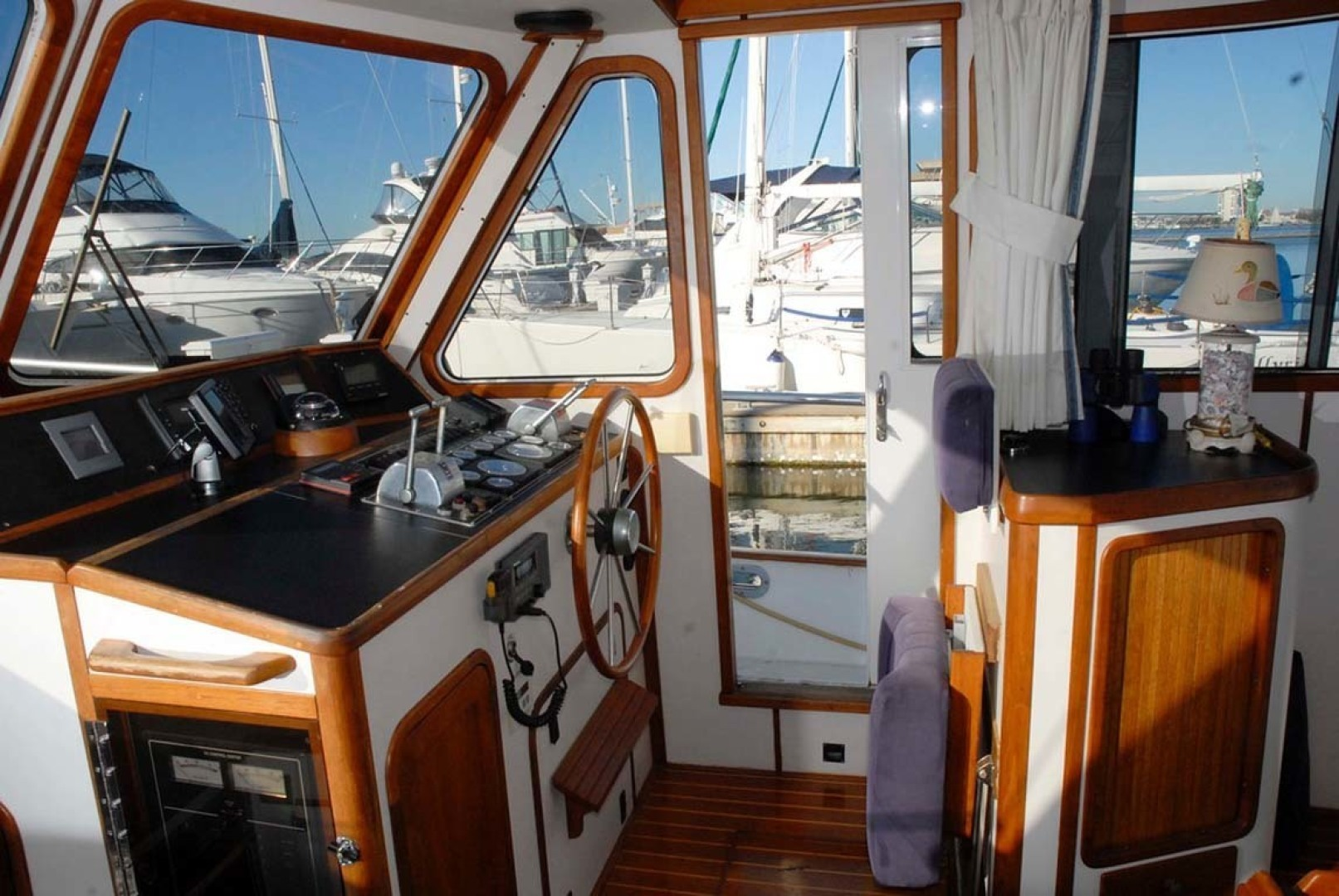 Legacy Yachts-40 1996-Coquina Mount Pleasant-South Carolina-United States-Pilothouse Helm To Stbd-1415200 | Thumbnail