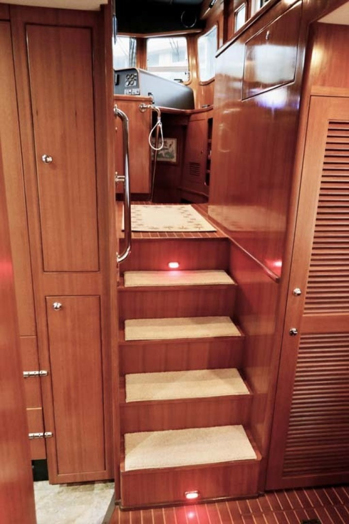 Nordhavn-47 2005-Fusion North Palm Beach-Florida-United States-Pilothouse Stairs-1423994 | Thumbnail