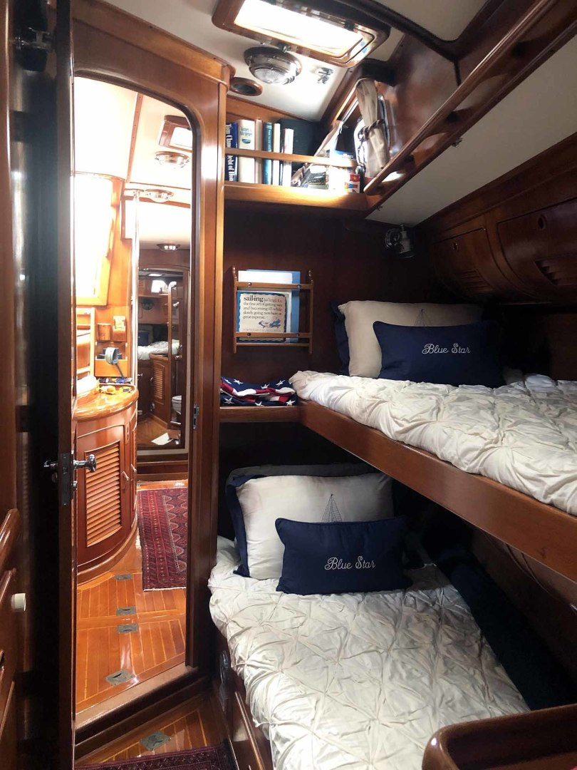 Little Harbor-53 1988-BLUE STAR Cambridge-Maryland-United States-Blue Star Port Fwd. Stateroom Looking Aft-1423892 | Thumbnail