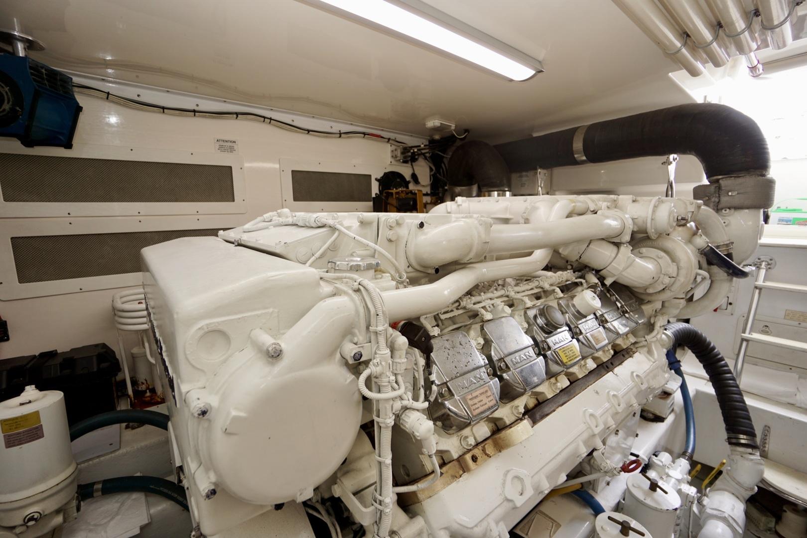 Cabo-52 Express 2007-Blueline Stuart-Florida-United States-Engine Room-1507610 | Thumbnail