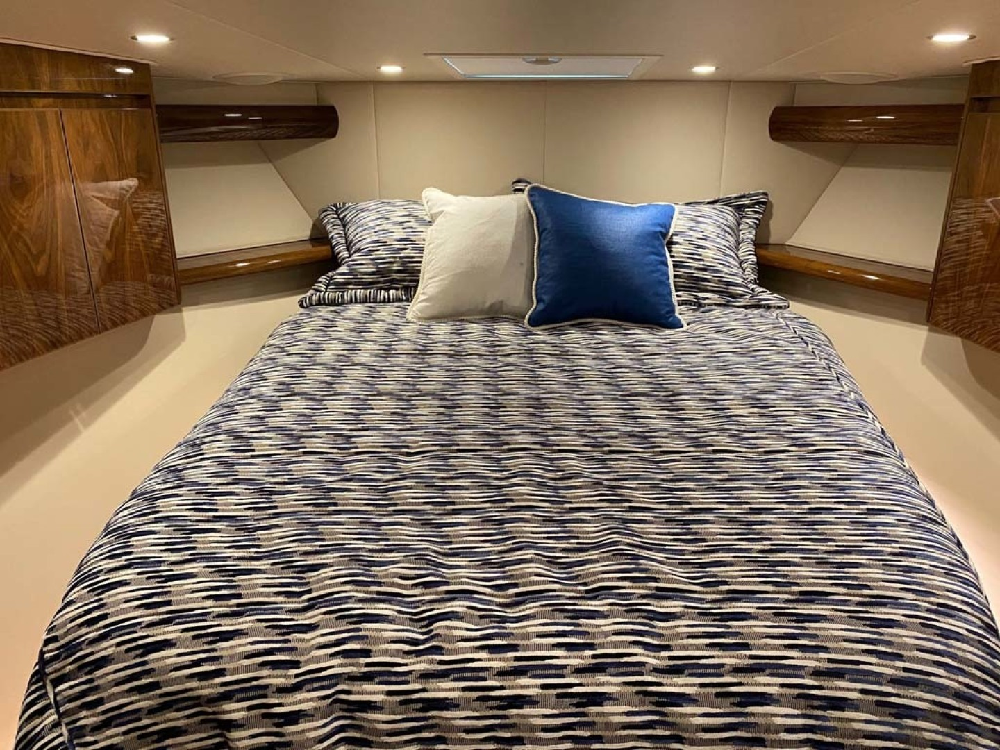 Viking-48 Viking Sport Tower 2018-Pharma Sea Ft Lauderdale-Florida-United States-Master Forward Island Double Berth With Lift Up Top With Gas Pistons And Maple Lined Storage Underneath Mattress-1424058 | Thumbnail