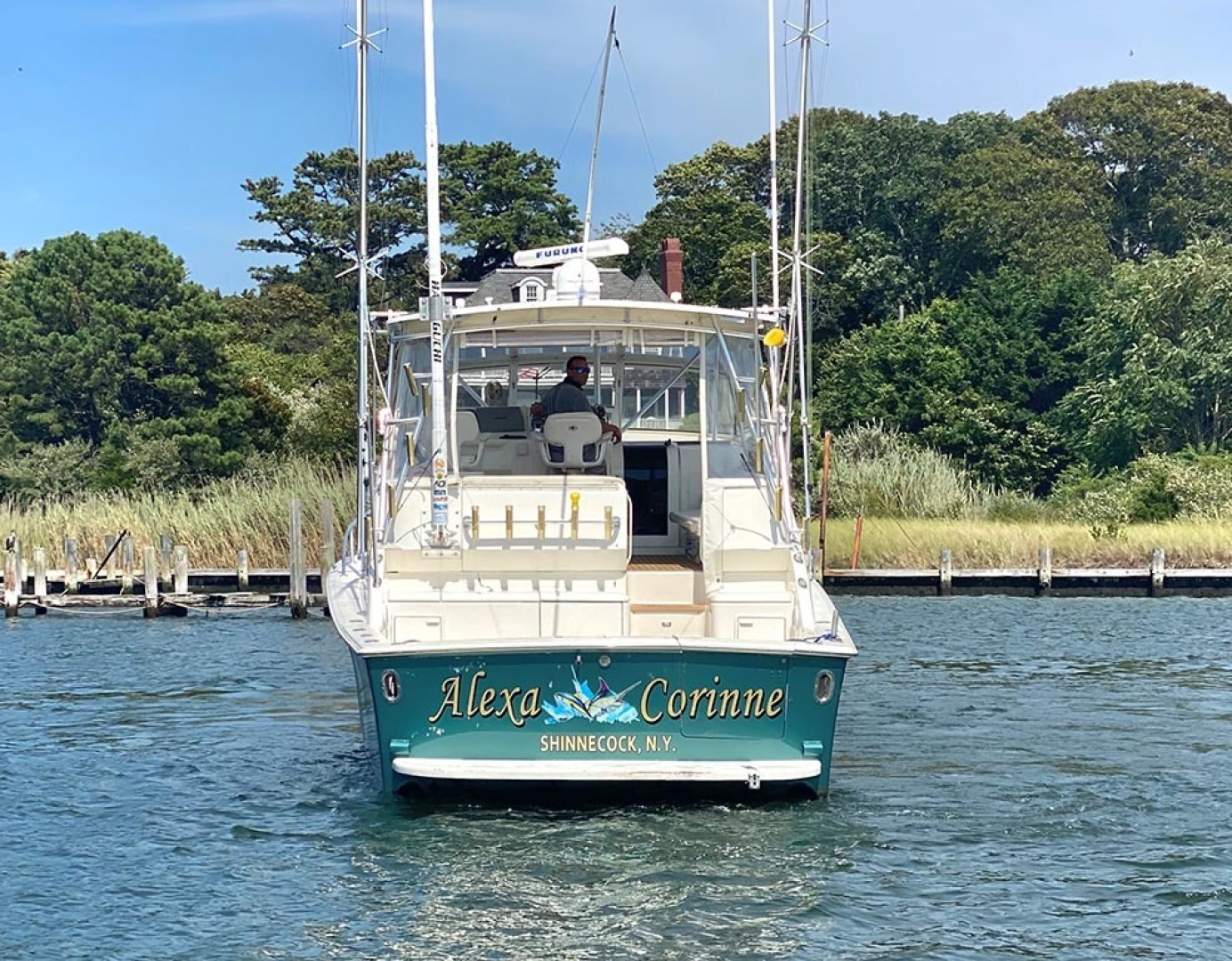 Ocean Yachts-40 Express 2001-Alexa Corinne Long Island-New York-United States-Stern-1470869 | Thumbnail