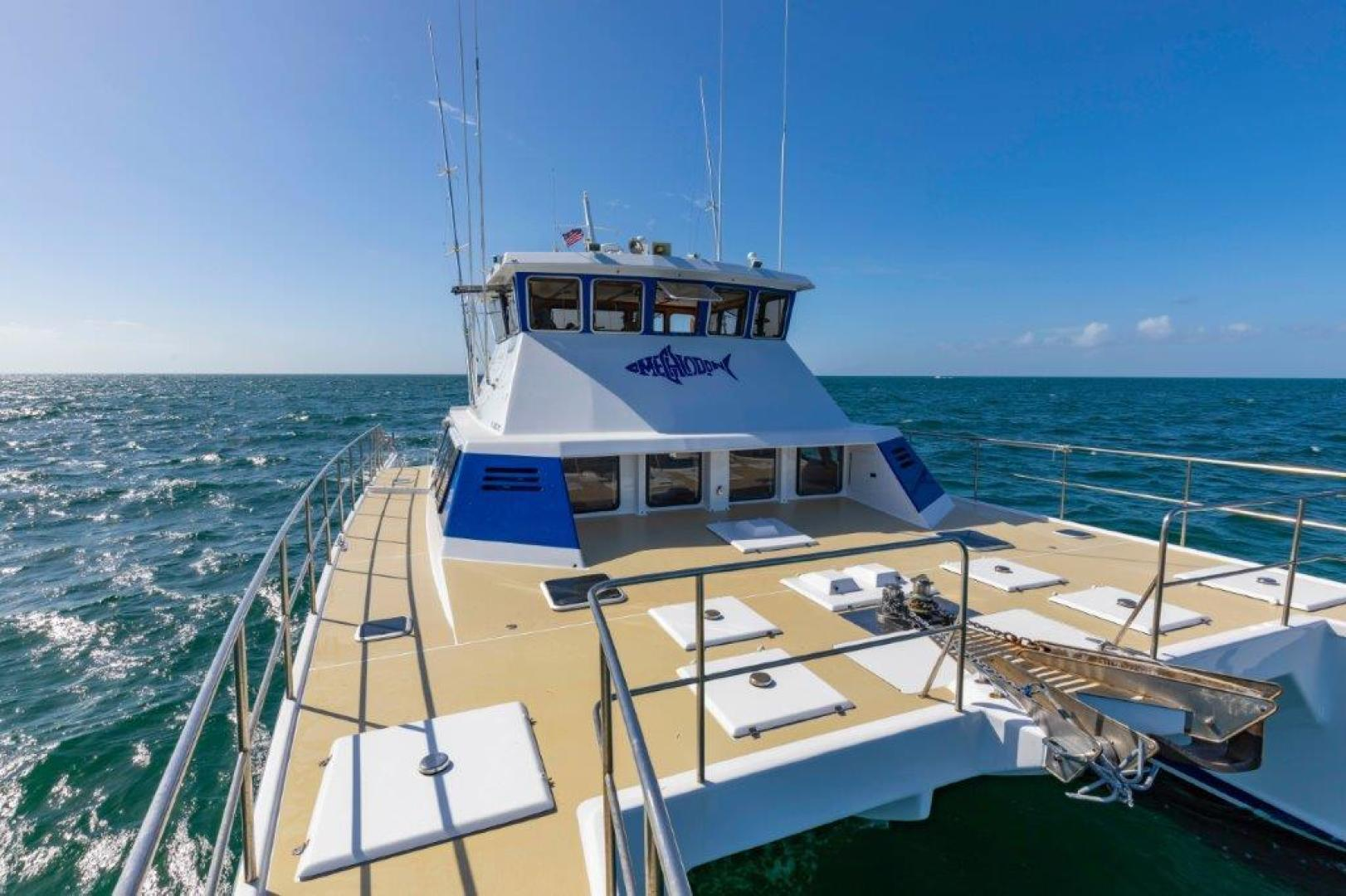 Custom-Cold Molded Cat Craft  1999-MEGALODON Marathon-Florida-United States-Fore Deck View Aft-1431395 | Thumbnail