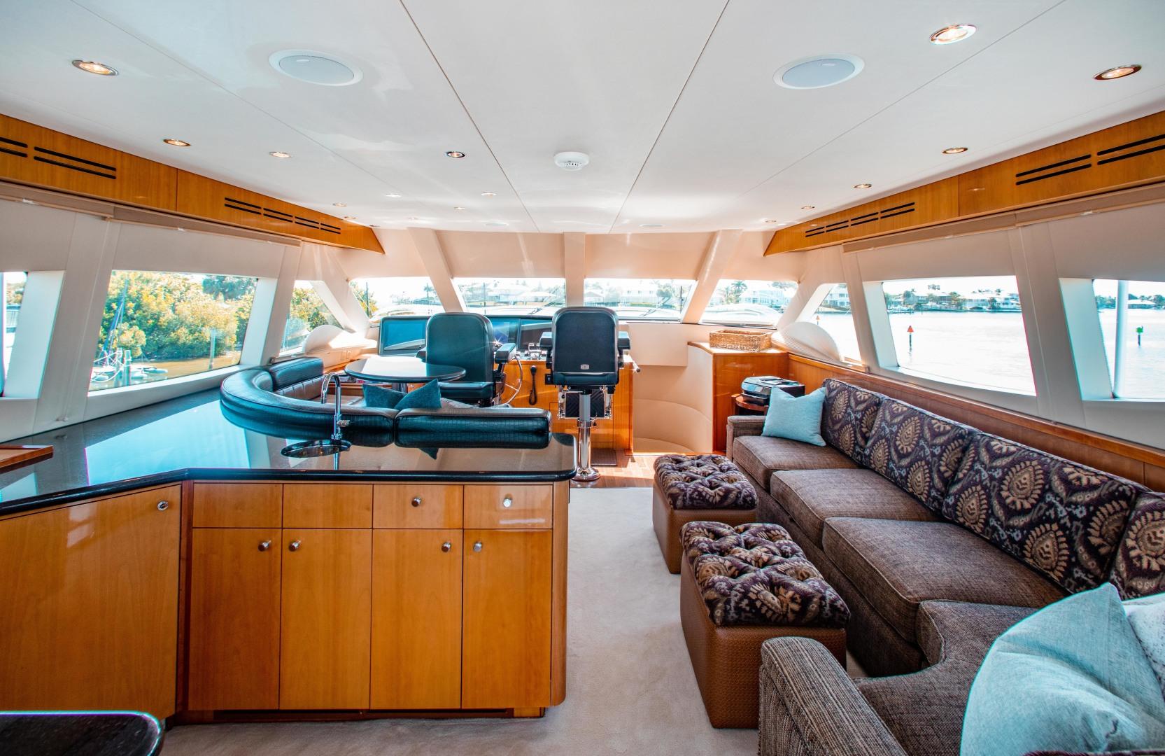 Hatteras-80 Motor Yacht 2008-Galati Yacht Sales Trade Anna Maria-Florida-United States-2008 Hatteras 80 Motor Yacht  Galati Yacht Sales Trade  Skybridge-1466220 | Thumbnail