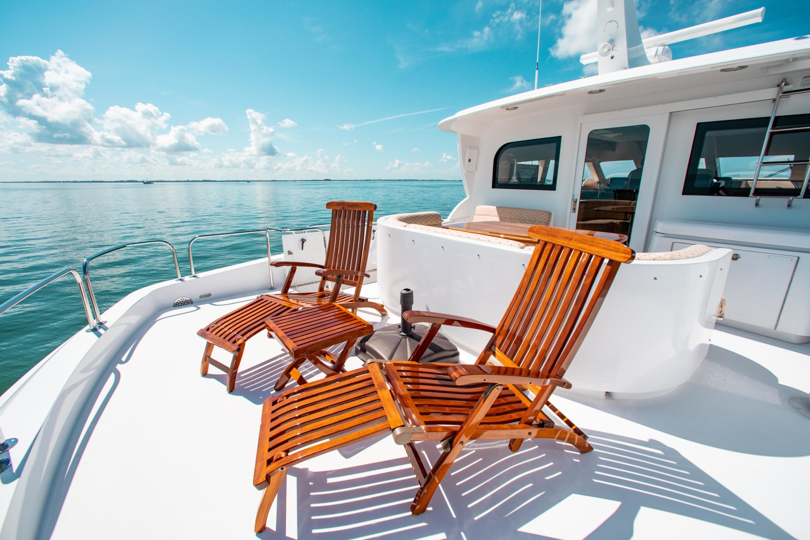 Hatteras-80 Motor Yacht 2008-Galati Yacht Sales Trade Anna Maria-Florida-United States-2008 Hatteras 80 Motor Yacht  Galati Yacht Sales Trade  Skylounge Aft Deck-1466258 | Thumbnail