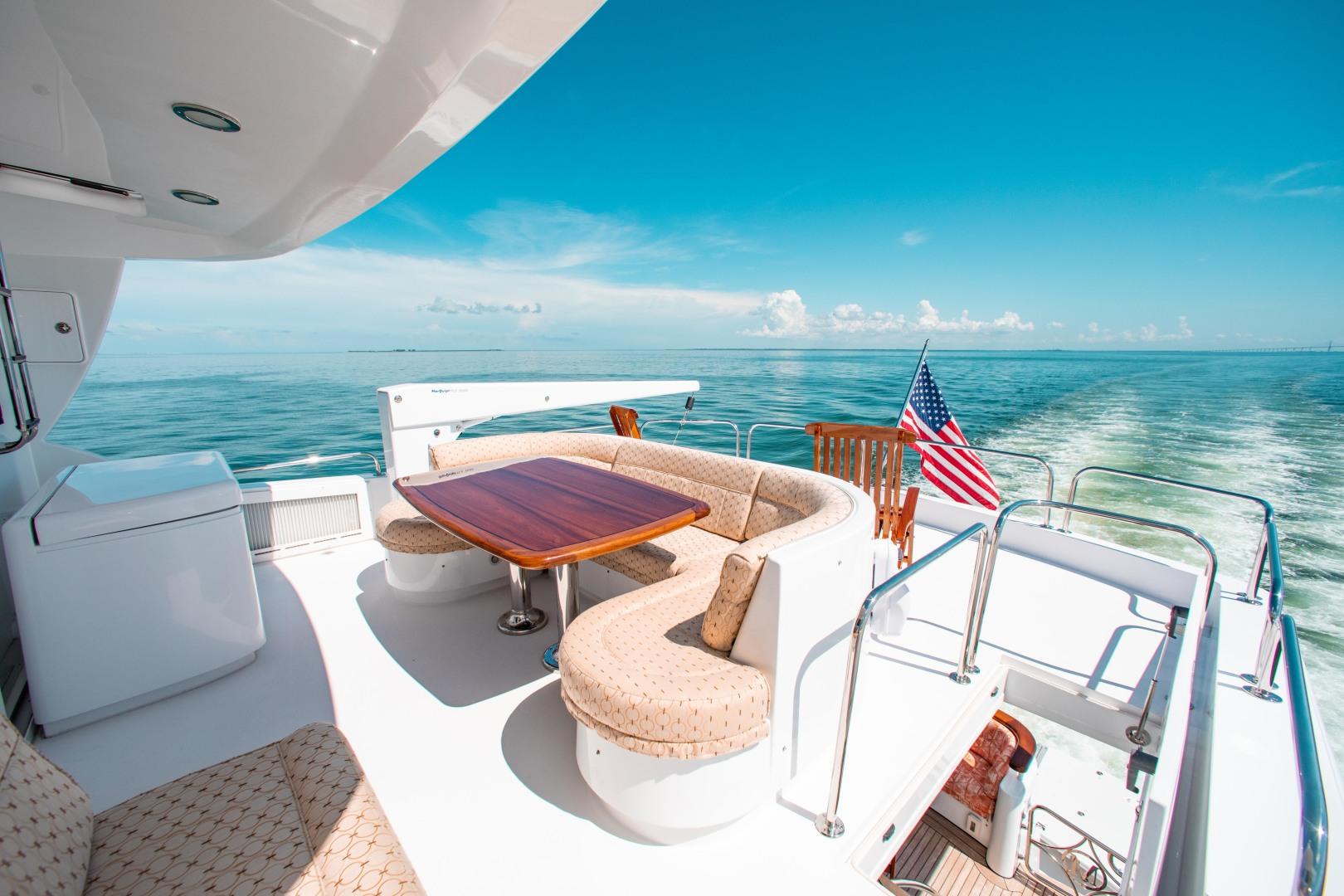 Hatteras-80 Motor Yacht 2008-Galati Yacht Sales Trade Anna Maria-Florida-United States-2008 Hatteras 80 Motor Yacht  Galati Yacht Sales Trade  Skylounge Aft Deck-1466261 | Thumbnail