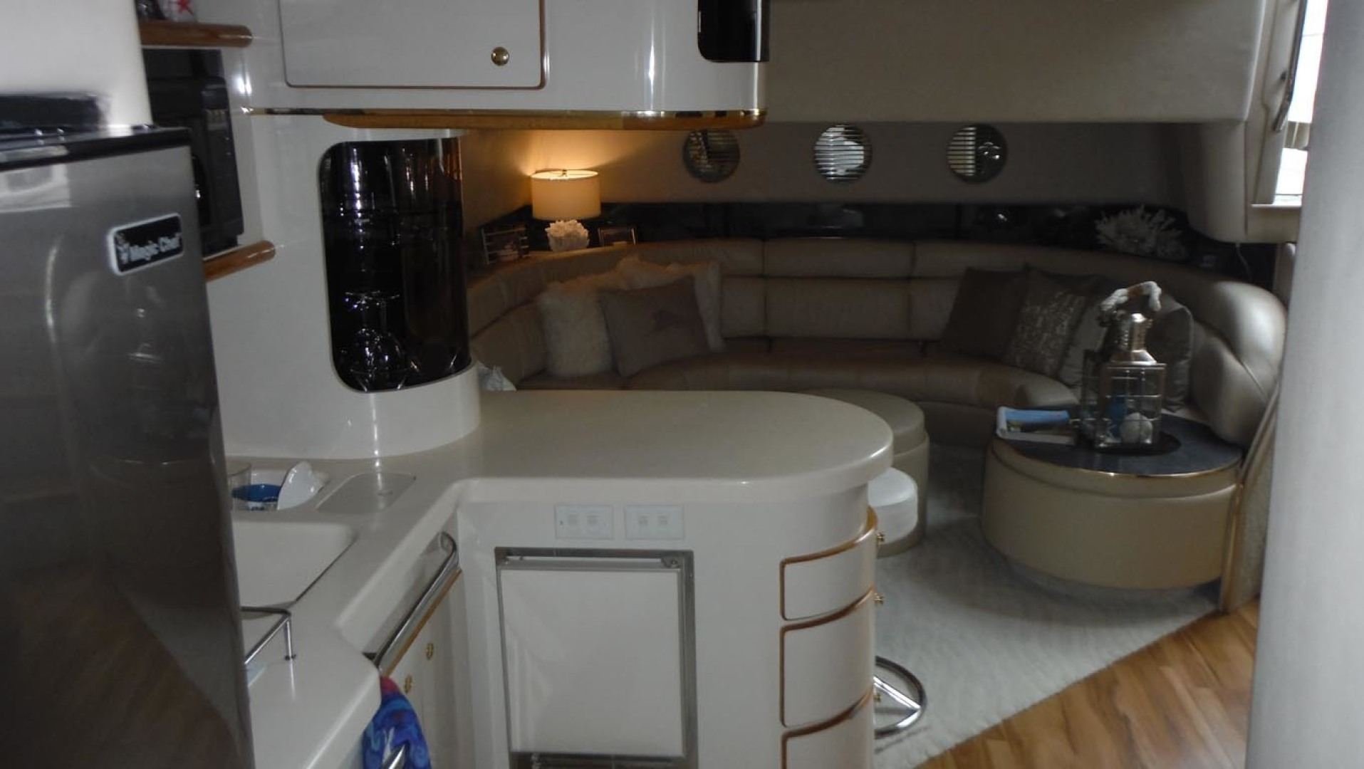 Sea Ray-500 Sundancer 1996-Fifty Shades Red Wing-Minnesota-United States-Galley and Salon Looking Aft-1435275   Thumbnail