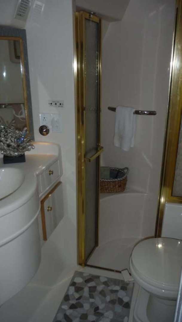 Sea Ray-500 Sundancer 1996-Fifty Shades Red Wing-Minnesota-United States-Master Head and Shower With Custom Stone Flooring-1432955   Thumbnail