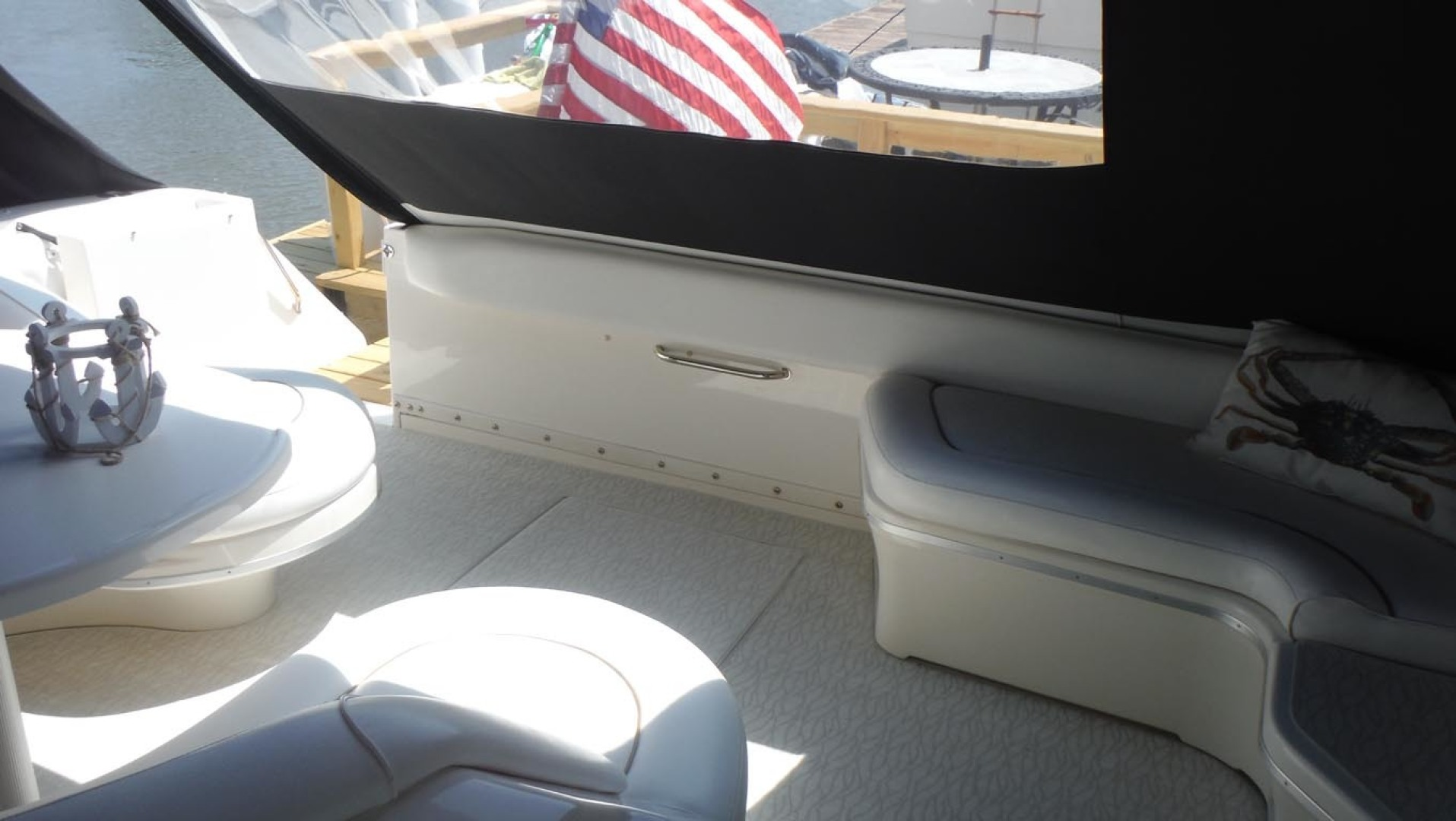 Sea Ray-500 Sundancer 1996-Fifty Shades Red Wing-Minnesota-United States-Cockpit With Custom Carpet-1435278   Thumbnail