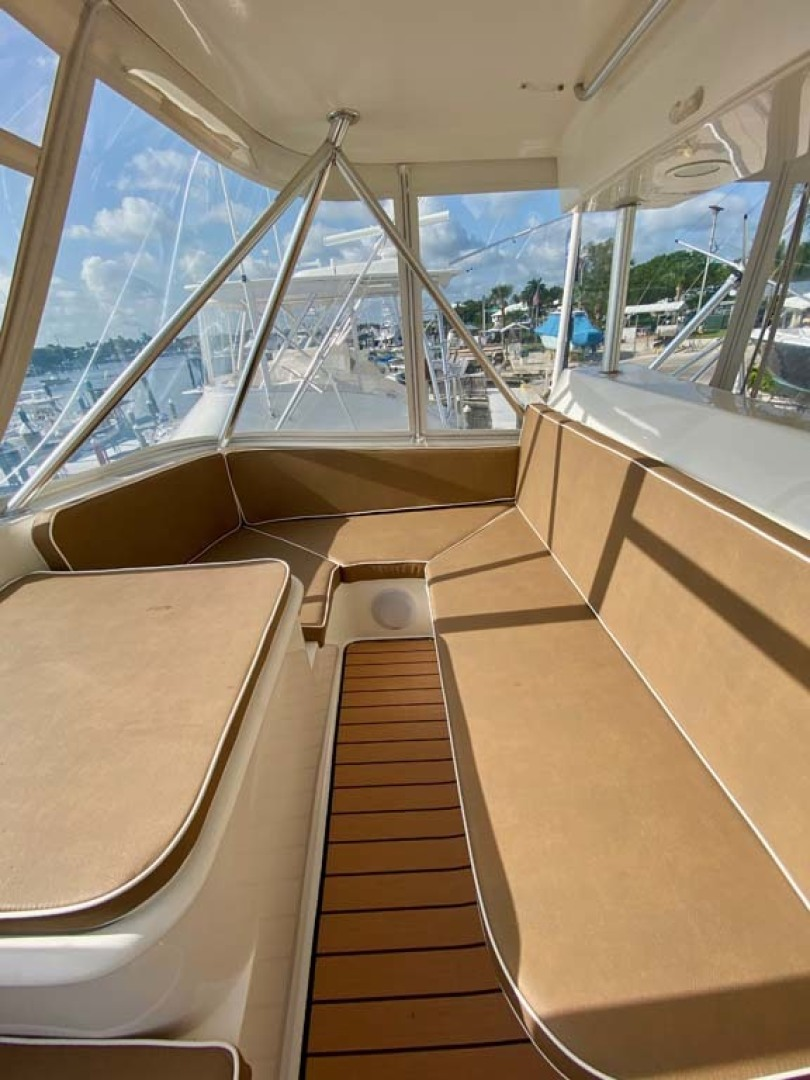 Ocean Yachts-52 SS 2005-Whiskey & Wine Stuart-Florida-United States-Flybridge Forward Seating to starboard-1434585 | Thumbnail