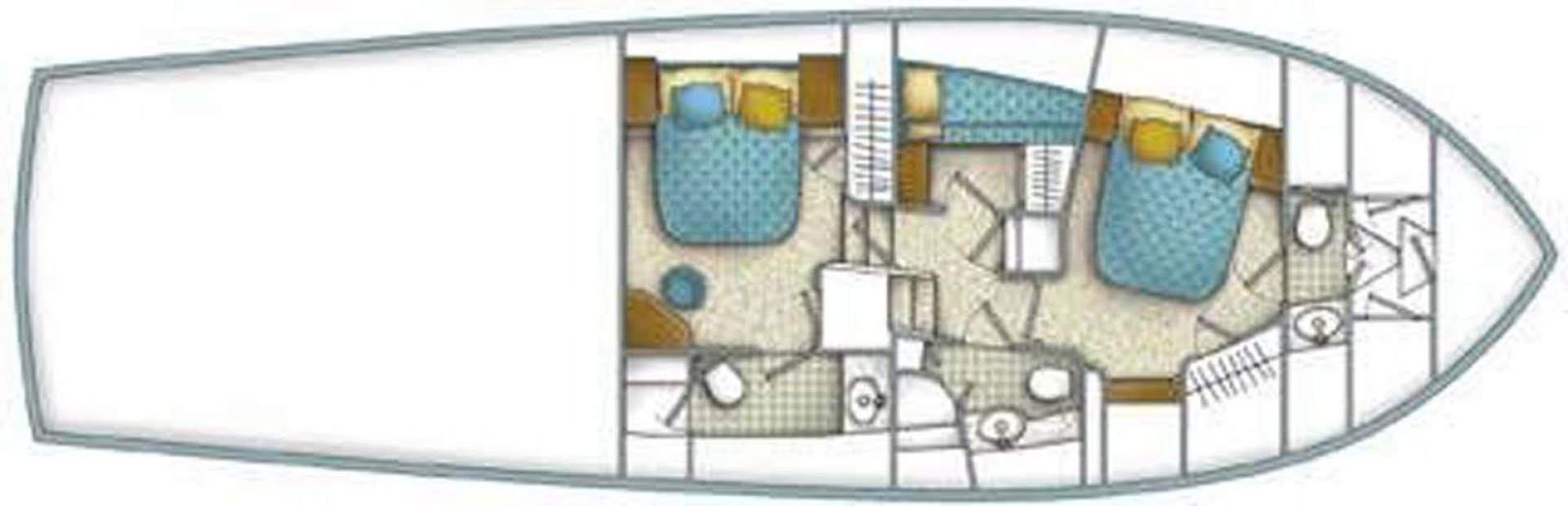 Ocean Yachts-52 SS 2005-Whiskey & Wine Stuart-Florida-United States-Layout Diagram-1434607 | Thumbnail